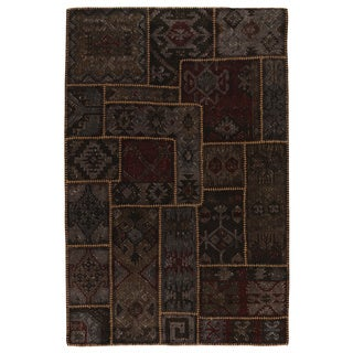 Medley Patchwork Stonewash Kilim Rug (5' x 8')