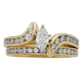 Sofia 14k Gold 1ct TDW IGL Certified Marquise Diamond Bridal Set