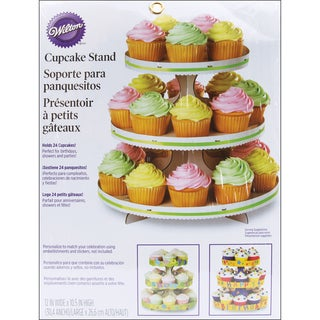 Cupcake StandWhite 12inX10.5in Holds 24 Cupcakes