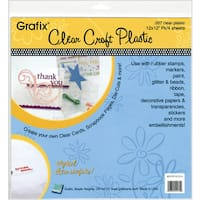 Craft Plastic Sheets 12inX12in 4/PkgClear .007