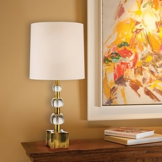 Hudson Valley Concordia 2-light Brass Table Lamp, Cream Shade