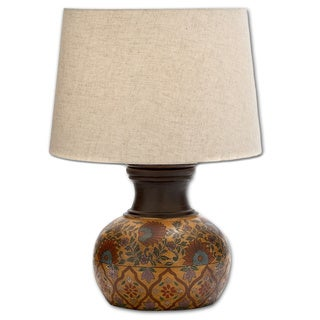 Adela 20-Inch Hand-Painted Terra Cotta Table Lamp