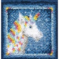 Wonderart Latch Hook Kit 12inX12inUnicorn