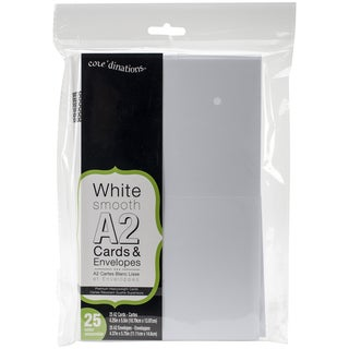 Heavyweight A2 Cards/Envelopes (4.375inX5.75in) 25/PkgWhite