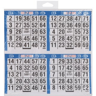Bingo Game Sheets 8inX8in 125/Pkg500 Games