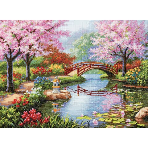 Gold Collection Japanese Garden Counted Cross Stitch Kit16inX12in 16 Count