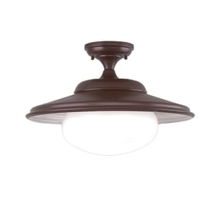Hudson Valley Independence 1-light Bronze 11 inch Semi Flush