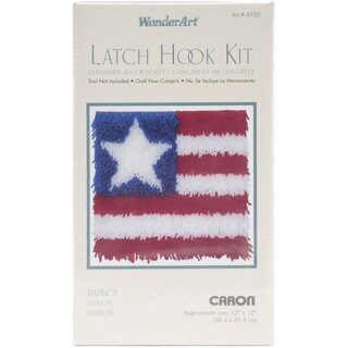Wonderart Latch Hook Kit 12inX12inPatriot