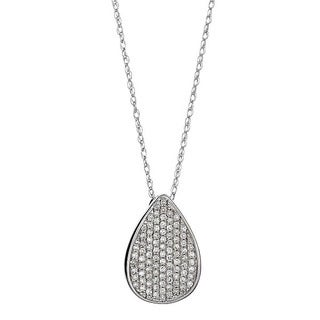 14k White Gold 1/4ct TDW Round Diamond Necklace (H-I, SI1-SI2)