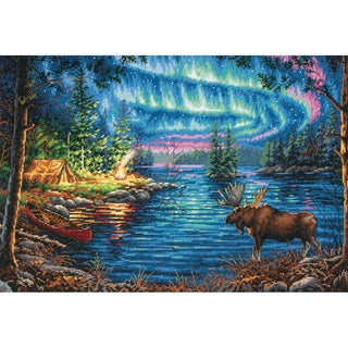 Gold Collection Northern Night Counted Cross Stitch Kit16inX11in 14 Count