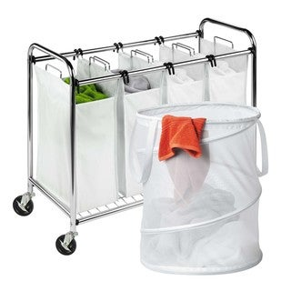 Honey Can Do Quad Chrome Laundry Sorter and Mesh Hamper