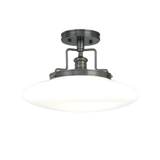 Hudson Valley Beacon 1-light Bronze Semi Flush