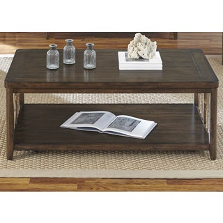 Dockside Tobacco Castered Weaved Rope Cocktail Table