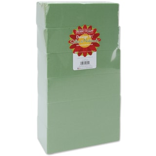 Dry Foam Blocks 2.625inX3.5inX7.875in 6/PkgGreen