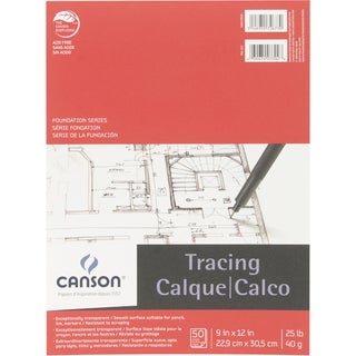Canson Foundation Series Tracing Paper Pad 9inX12in50 sheets