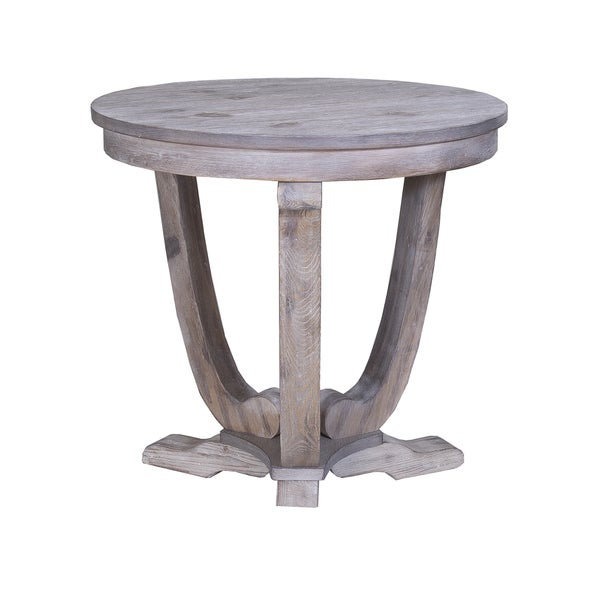 Greystone Mill Stone Washed Round End Table Free