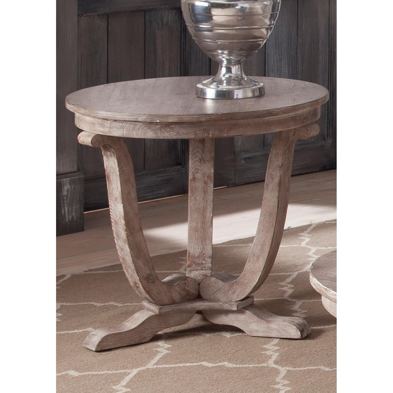 Liberty Greystone Mill Stone White Wash End Table (Greyst...