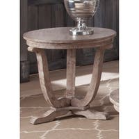 Maison Rouge Hamilton Stone White Wash End Table