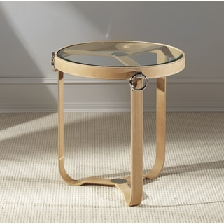 Saratoga Tan Side Table- Round