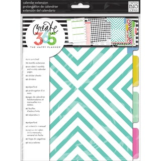 Create 365 Planner Month Extension PagesTeal/Gold
