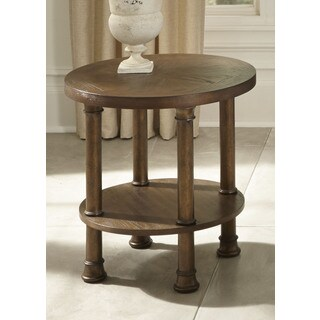 Clockworks Antique Coffee Finish End Table