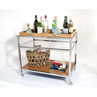 Wellington Leather Bar Trolley- Tan