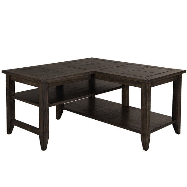 Superior Brookstone L Shaped Cocktail Table   Free Shipping Today   Overstock.com    17633337