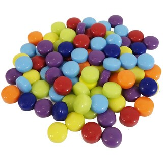 Mosaic Dots Glass Rounds 8ozAssorted Colors