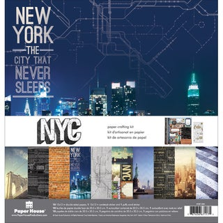 Paper House Paper Crafting Kit 12inX12inNew York City|https://ak1.ostkcdn.com/images/products/10554360/P17633362.jpg?_ostk_perf_=percv&impolicy=medium