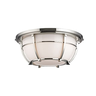 Hudson Valley Conrad 3-light Nickel Flush Mount