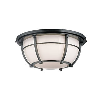 Hudson Valley Conrad 3-light Aged Zinc Flush Mount