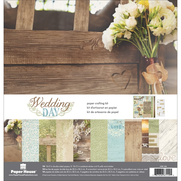 Paper House Paper Crafting Kit 12inX12inWedding Day