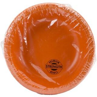 Paper Bowl 20oz 20/PkgSunkissed Orange