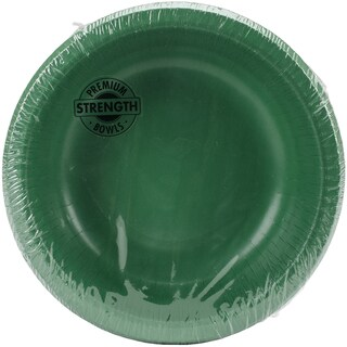 Paper Bowl 20oz 20/PkgEmerald Green