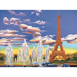 Paint By Number Kit 12inX16inEiffel Tower