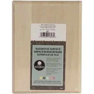 Basswood Rectangle Plaque6inX8inX.75in