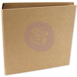 Memory Hardware Chipboard Journal 6.25inX6.25inSquare Kraft, 6 Pages