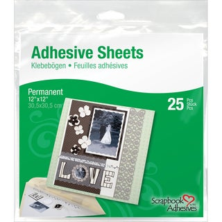 Scrapbook Adhesives Permanent Adhesive Sheets 25/Pkg12inX12in