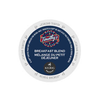 Timothy's World Coffee Breakfast Blend for Keurig Brewers