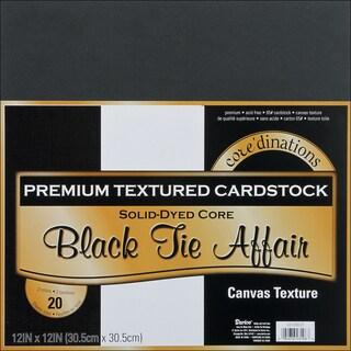 Core'dinations Value Pack Cardstock 12inX12in 20/PkgBlack Tie Affair Textured