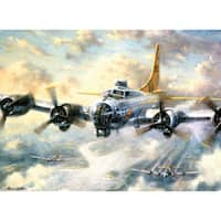 Paint By Number Kit 15.375inX11.25inFlying Fortress