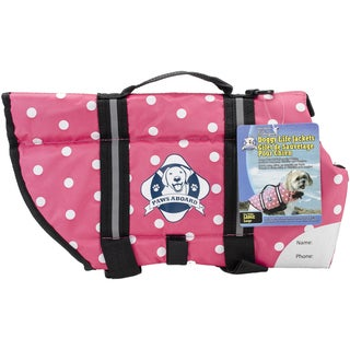 Paws Aboard Doggy Life Jacket LargePink Polka Dot