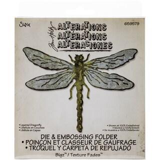 Sizzix Bigz Die W/A2 Texture Fades Folder By Tim HoltzLayered Dragonfly