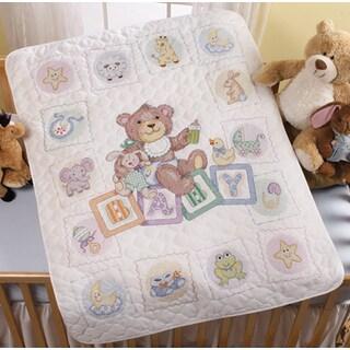 Baby Blocks Crib Cover Stamped Cross Stitch Kit34inX43in