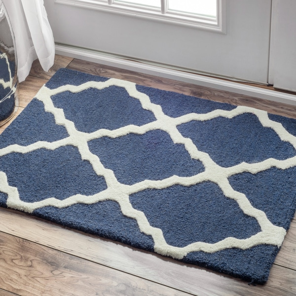 NuLOOM Hand-hooked Alexa Moroccan Trellis Wool Door Mat