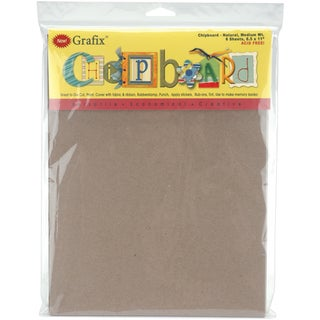 Medium Weight Chipboard Sheets 8.5inX11in 6/PkgNatural