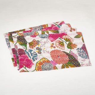 Kantha Stitched Design Placemats Set of 4