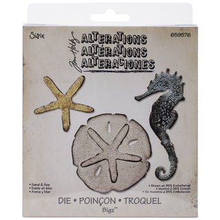 Sizzix Bigz Die By Tim Holtz 5.5inX6inSand & Sea