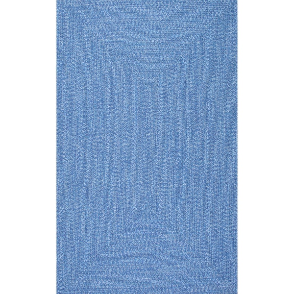Nuloom Handmade Casual Braided Blue Indoor Outdoor Rug 8 6 X 11 Free Shipping Today Com 17633884