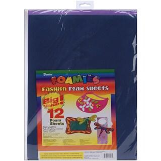 Foam Sheets 12inX18in 12/PkgFashion Colors